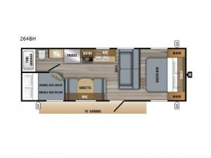 Jay Flight SLX 8 264BH Floorplan Image