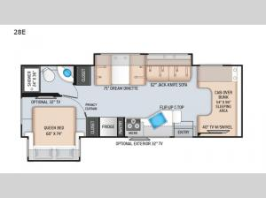 Four Winds 28E Floorplan Image