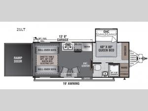 Work and Play 21LT Floorplan Image