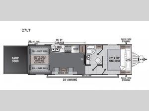 Work and Play 27LT Floorplan Image