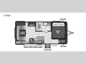 Hideout Single Axle 177RD Floorplan Image