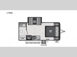 Hideout Single Axle 179RB Floorplan Image