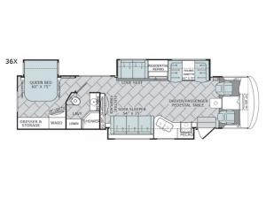 Vacationer 36X Floorplan Image