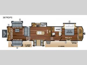 North Point 387RDFS Floorplan Image