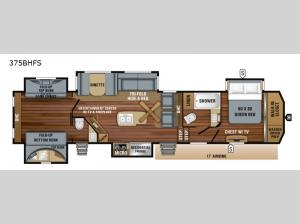 North Point 375BHFS Floorplan Image
