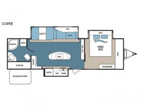 Denali 318RB Floorplan Image