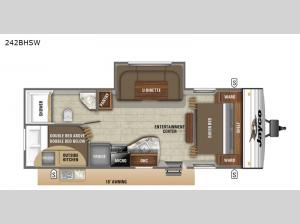 Jay Flight SLX Western Edition 242BHSW Floorplan Image