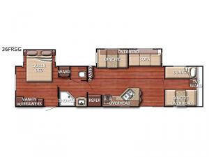 Conquest 36FRSG SE Floorplan Image