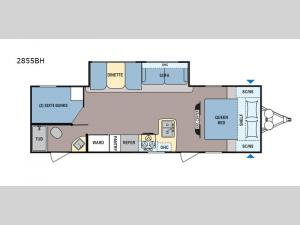 Coleman Light LX 2855BH Floorplan Image