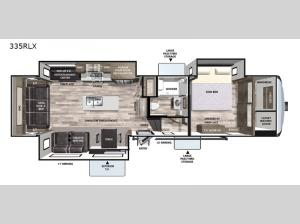 Cardinal Luxury 335RLX Floorplan Image
