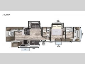 Cardinal Luxury 390FBX Floorplan Image