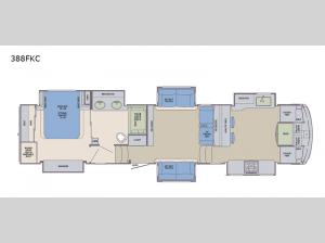 Columbus Compass 388FKC Floorplan Image