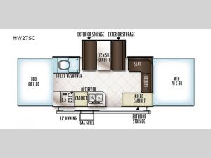 Flagstaff High Wall HW27SC Floorplan Image