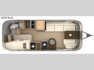 Flying Cloud 23CB Bunk Floorplan Image