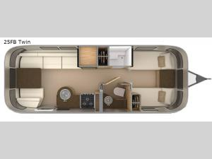 Flying Cloud 25FB Twin Floorplan Image
