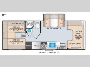 Chateau 25V Chevy Floorplan Image