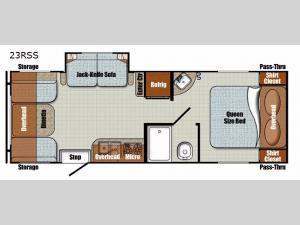Vista Cruiser 23RSS Floorplan Image