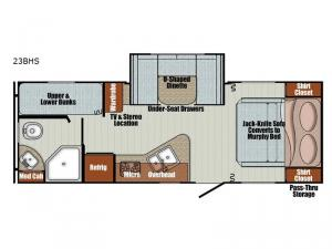 Vista Cruiser 23BHS Floorplan Image