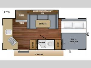 Hummingbird 17RK Floorplan Image
