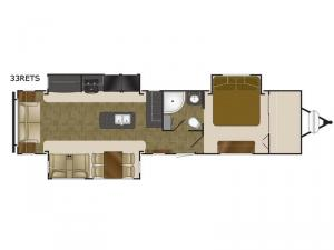 North Trail 33RETS King Floorplan Image