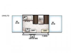 Rockwood Freedom Series 1940LTD Floorplan Image