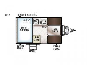 Rockwood Hard Side Series A122 Floorplan Image