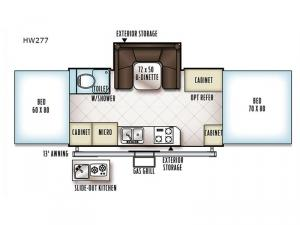 Rockwood High Wall Series HW277 Floorplan Image