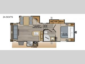 Eagle HT 24.5CKTS Floorplan Image