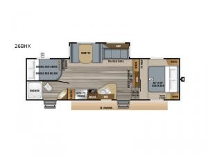 Eagle HT 26BHX Floorplan Image