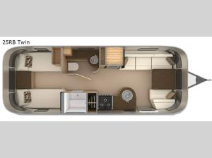 Flying Cloud 25RB Twin Floorplan Image