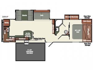 Gulf Breeze Champagne Series 30RKP Floorplan Image