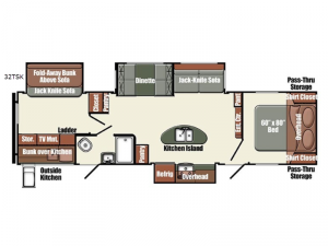Gulf Breeze Champagne Series 32TSK Floorplan Image
