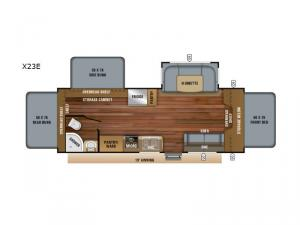 Jay Feather X23E Floorplan Image