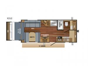 Jay Feather X212 Floorplan Image