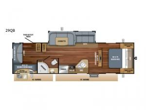 Jay Feather 29QB Floorplan Image