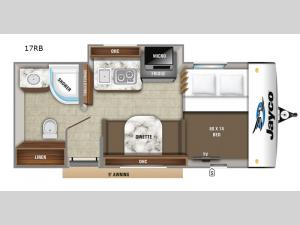 Hummingbird 17RB Floorplan Image