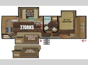 Black Stone Mountain Series 270RKS Floorplan Image