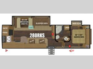 Black Stone Mountain Series 280RKS Floorplan Image