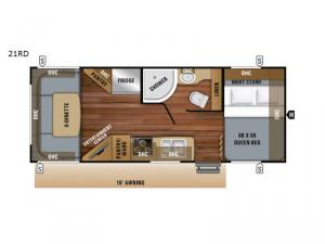 Jay Feather 21RD Floorplan Image