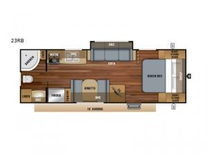 Jay Feather 23RB Floorplan Image