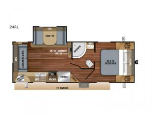 Jay Feather 24RL Floorplan Image