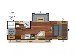 Jay Feather 24BHM Floorplan Image