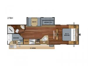 Jay Feather 27BH Floorplan Image