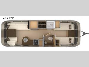 Flying Cloud 27FB Twin Floorplan Image
