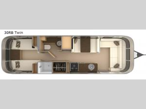 Flying Cloud 30RB Twin Floorplan Image