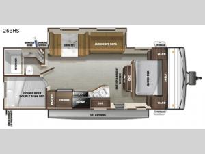Autumn Ridge 26BHS Floorplan Image