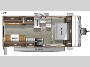Autumn Ridge 21FB Floorplan Image