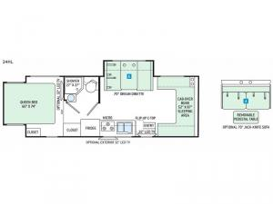 Chateau Sprinter 24HL Floorplan Image