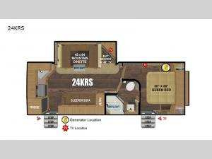 Back Country Series MTN TRX 24KRS Floorplan Image