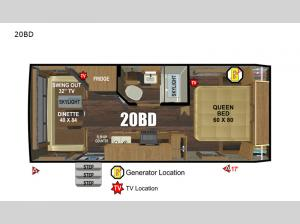 Back Country Series MTN TRX 20BD Floorplan Image